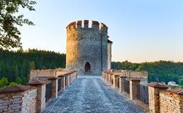 Evening Sternberk Castle in Czech Republic Stock Image