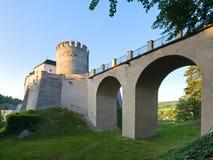 Evening Sternberk Castle in Czech Republic Stock Photo