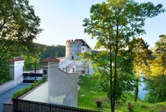 Evening Sternberk Castle in Czech Republic Royalty Free Stock Photo