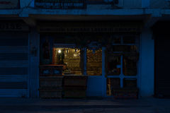 Evening Store. Store in Leh in evening Stock Image