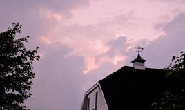 Evening storm clouds Royalty Free Stock Image