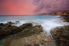 Evening storm in Crete, Greece. Stock Image