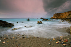 Evening storm in Crete, Greece. Royalty Free Stock Image