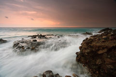 Evening storm in Crete, Greece. Royalty Free Stock Photos