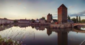 Evening Strasbourg, medieval bridge Stock Images