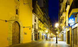 Evening street of Castellon. Spain Stock Images
