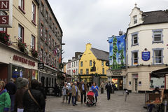 Evening street in the center of Galway Stock Photo
