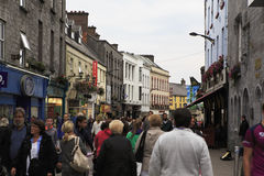 Evening street in the center of Galway Royalty Free Stock Images