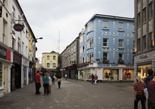 Evening street in the center of Galway Royalty Free Stock Image