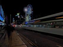 Evening street in Edinburgh. Royalty Free Stock Image
