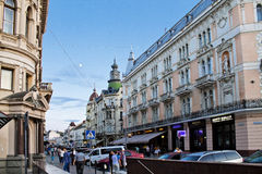 Evening street of Lvov Stock Photography