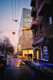 Evening street Stock Image