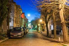 Evening Street in Pomorie, Bulgaria Royalty Free Stock Images