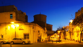 Evening street of Sant Adria de Besos Royalty Free Stock Image