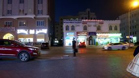 The Evening Streets of Muscat al ghubra from the parking of hypermarket Time Lapse. 4K in muscat oman stock video footage