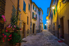 Evening streets of San Marino Stock Images