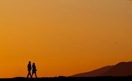 Evening stroll Royalty Free Stock Image