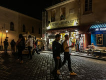Evening stroll on Montmartre, Paris, France Royalty Free Stock Photo