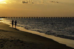 Evening stroll Stock Photography