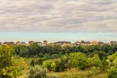 Evening suburban skyline royalty free stock photos