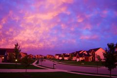 Evening suburbia Royalty Free Stock Photography