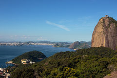 Evening Sugar Loaf mountain at Rio Royalty Free Stock Images