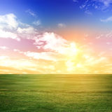 Evening summer background Royalty Free Stock Photos
