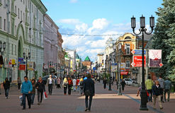 Evening summer view Bolshaya Pokrovskaya street Stock Image