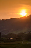 Evening sun in the allgau alps Royalty Free Stock Photos