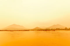 Evening sun and mountains Royalty Free Stock Image