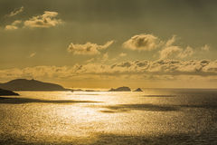 Evening sun over Ile Rousse in Corsica Stock Image