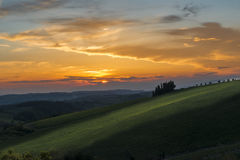 Sunset Tuscany Royalty Free Stock Photography