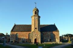 Evening sunlight falls on Elie Parish Church, Fife Royalty Free Stock Photo