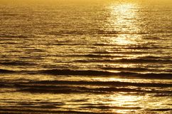 Evening Sunlight Over the Sea Royalty Free Stock Photo