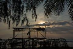 Evening before sunrise to sunset. Atmospheric evening before sunrise to sunset royalty free stock photos