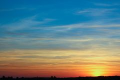 Evening sunset away from the city Royalty Free Stock Images
