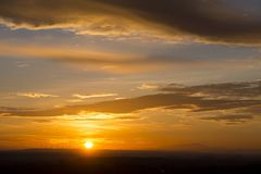Evening sunset in Devin royalty free stock photo