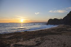 Evening sunset at Hope Cove, Devon, England Royalty Free Stock Photography