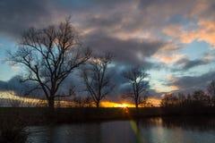 Evening sunset Royalty Free Stock Photo