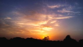 Evening Sunset Photography by Mobile royalty free stock images