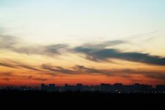 Evening sunset sky over Saint-Petersburg Stock Images