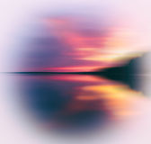Evening sunset on smooth lake Royalty Free Stock Photography