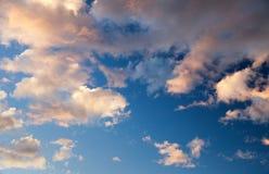 Evening sunset view of beautiful sky. Evening sunset view beautiful sky Royalty Free Stock Photo