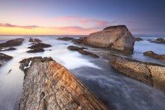 Evening surf on the California coast Stock Photography