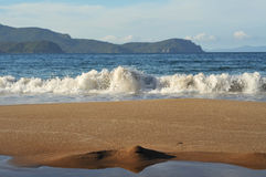 Evening surf on Coromandel Peninsula Royalty Free Stock Images