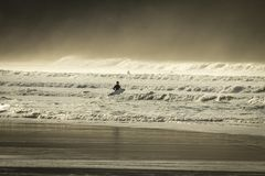 Evening Surf, Fistral beach, Newquay, North Cornwall royalty free stock photos