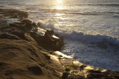 Evening surf in San Diego Stock Photography