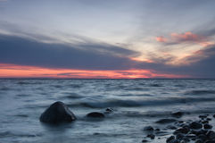 Evening at the Swedish coastline. Royalty Free Stock Images