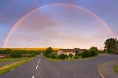 Evening Swedish rainbow Stock Photos