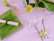 Evening table (table and place settings) Royalty Free Stock Image